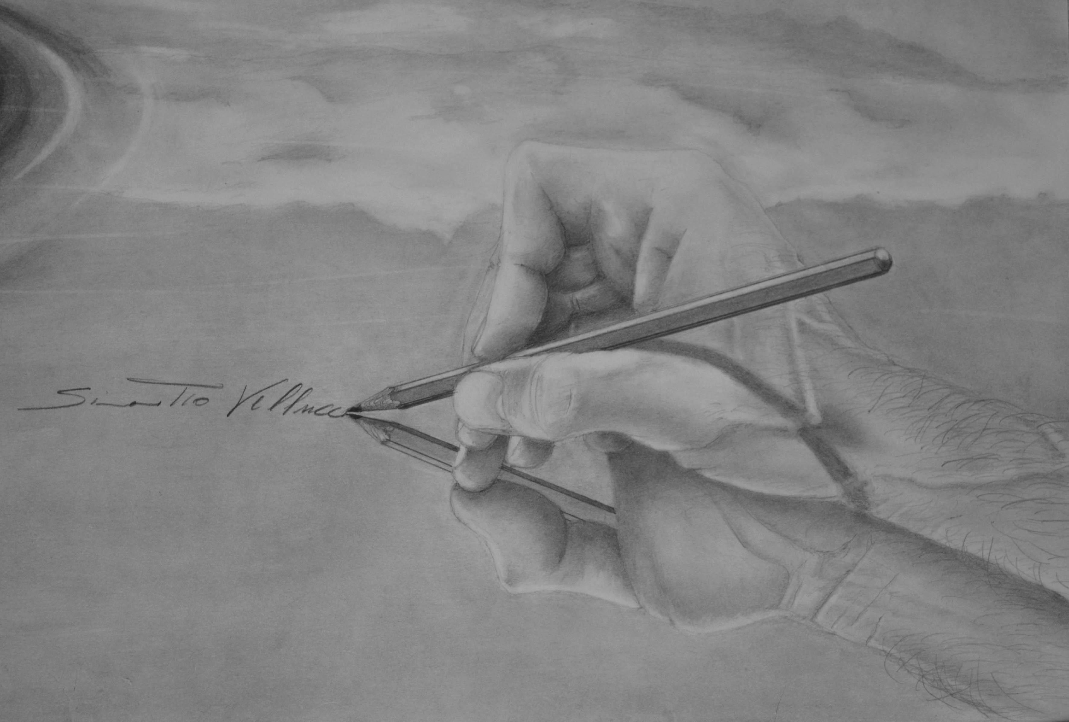 Disegni a matita architetto Simonetto Vellucci